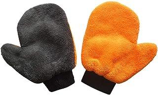 洗車グローブ 手袋 片手2個セット 隙間清潔 手袋タイプタオル ふき取り 洗車グッズ 柔らかい 傷防止 掃除