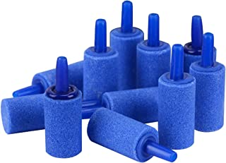 Pawfly 1 Inch Air Stones Cylinder 12 PCS Bubble Diffuser Airstones for Aquarium Fish Tank Pump Blue