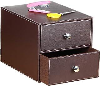 $39 » UnionBasic Multi-Functional PU Leather Desk Organizer File Cabinet Office Supplies Desktop Storage Organizer Box with Draw...