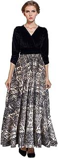 فستان MedeShe طويل مخملي طويل لعيد الميلاد (18/20، جلد الثعبان)
