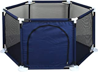 Baby playpen-SYY Toddler Fence Hexagonal Design Stable Structure Easy Install And Washable Help Your Baby Learn Walk 3 Color Styles  Color Black  Size  nothing