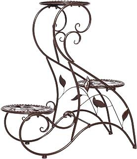 MAJOZ0 Estanteria para Macetas 3 Niveles,Maceteros Porta Macetas Metal Decorativos,Stand para Macetas Exterior Interior Jardín
