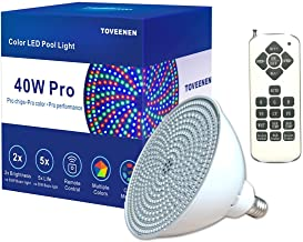LED Pool Light 120V 40Watt Color-Changing with Remote Control Color Memory Replacement..
