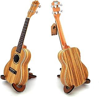 Ukulele Zebra Wood Ukelele with Wooden Scaffold Ukele Uke 23 inch 4 String Hawaii Guitar Concert for Beginner Adult Kid Pr...