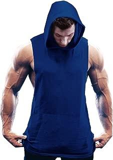 COOFANDY Men's Workout Hooded Tank Tops Bodybuilding Muscle Cut Off T Shirt Sleeveless Gym Hoodies