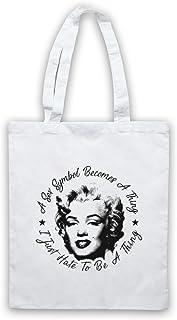 Inspirado por Marilyn Monroe I Just Hate To Be A Thing No Oficial Bolso