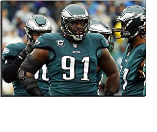 WALKKING WAYS Home Decor Art Canvas NFL Sports Football Fletcher Cox Rugby Poster Oil Painting Wall Canvas Pictures Prints Pictures Artwork (Unframed,60x90 cm)