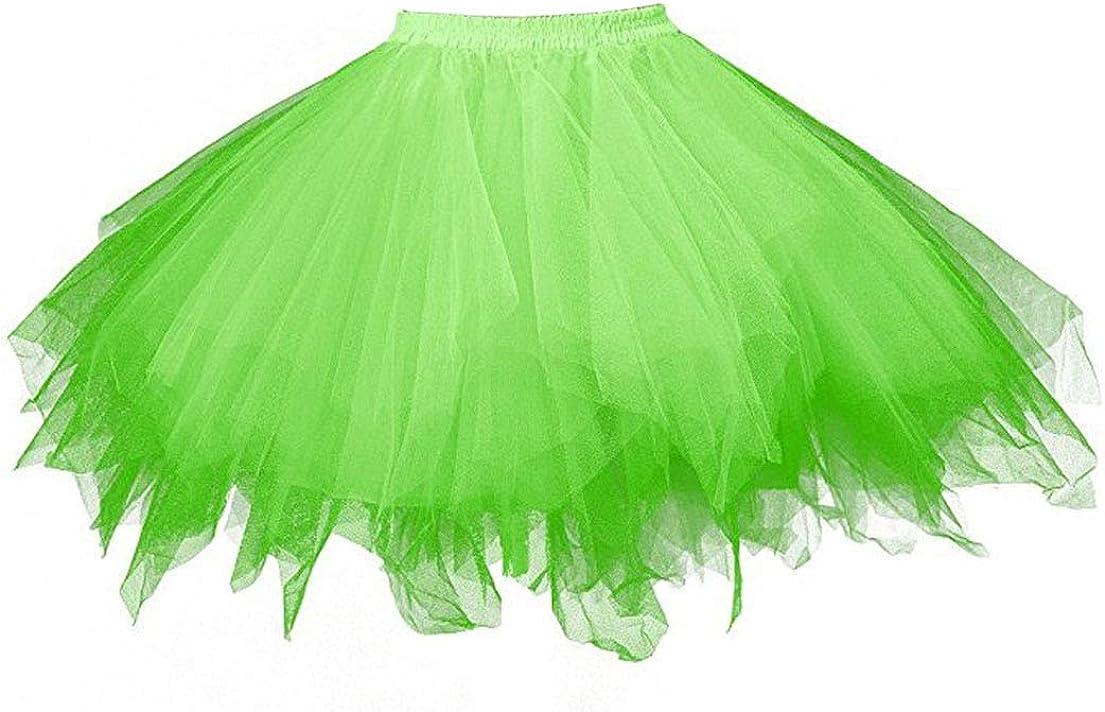 HappyStory Lady's Tutu Tulle Short Crinolines Bubble Skirt Underskirt