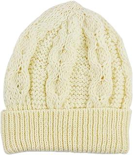 Aran Crafts Merino Wool Knit Hat, Natural