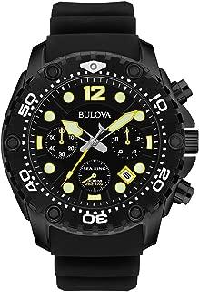 Men's 98B243 Sea King Analog Display Quartz Black Watch
