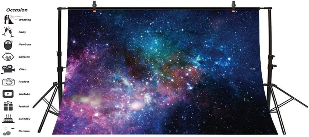 Laeacco 7x5ft Vinyl Mysterious Deep Space Nebula Photography Backdrops Planets Galaxy Universe Background Children Adults Portraits Shooting Boys Outer Space Theme Party Banner