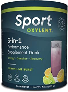 Oxylent Sport 3-in-1 Performance Supplement Drink - Sugar-Free, Effervescent, Easy Absorption of Vitamins, Creatine Minera...
