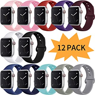 Compatible with Apple Watch Band 38mm 40mm 42mm 44mm, for Women Men, iwatch Bands Compatible with iWatch Series 5,Series 4, Series 3, Series 2, Series 1, S/M, M/L