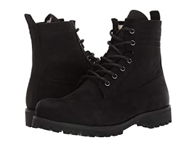 Blackstone Lace-Up Sheepskin Boot OL22 (Black) Women