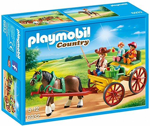Playmobil- Calèche avec attelage, 6932