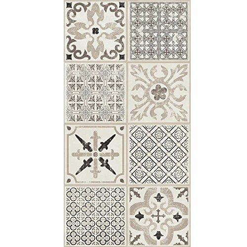 Vinilo laminado para suelo con sistema de fácil encaje Tarkett Starfloor Click 30, diseño retro, color blanco y negro