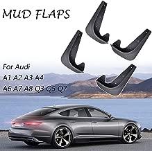 XUKEY Set Universal Mudflaps Mud Flaps Splash Guards Mudguards Fender Protector for Audi A1 A2 A3 A4 A5 A6 A7 A8 Q3 Q5 Q7 TT Diesel Avant