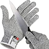 IXIGER Cut Resistant Gloves Food Grade Level 5 Protection, Safety Kitchen Cuts Gloves for Oyster Shucking, Fish Fillet Processing, Mandolin Slicing, Meat Cutting and Wood Carving, 1 Pair (Large)