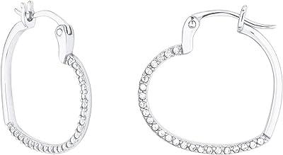 s.Oliver - Orecchini a cerchio argento sterling zirconia_cubica Donna, Argento, Standard - 2027563