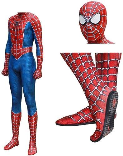 JUFENG Raimi Spiderhomme Kostuum Costume 3D Imprimer Complet du Corps HalFaibleeen Cosplay Costume Semelle Lentille Masque pour Adult Enfants HalFaibleeen Costume,C-S