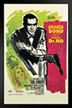 Pyramid America James Bond Dr No French Black Wood Framed Art Poster 14x20