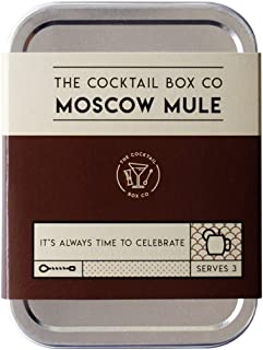 The Moscow Mule Cocktail Kit by The Cocktail Box Co. - Makes 3 Premium Craft Cocktails (3). Great gift for any cocktail lover and makes the perfect travel companion! (3 Drinks)