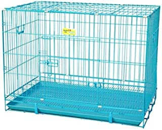 RvPaws Metal Dog Cage (Blue, 24 Inch)