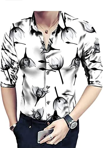 Full Sleeve Slim Fit Plain Casual Shirt for Men 100 Cotton Shirts Office wear Casual Shirt Large Black