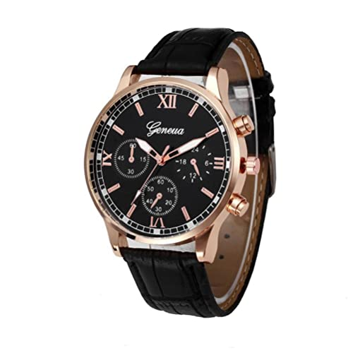 Xinantime Reloje Hombres,Xinan Banda de Cuero PU Reloj de Cuarzo de Aleación Analógica (