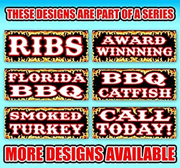 BBQ /& Catering 13 oz Banner Heavy-Duty Vinyl Single-Sided with Metal Grommets