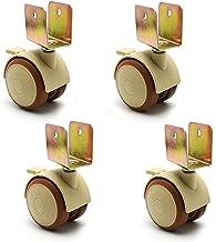 4 stks Meubelwielen Wielen met U-vormige beugel, bewegende plastic wielen, kleine wielen, 1,9 inch 47mm zwenkwielen, babyb...