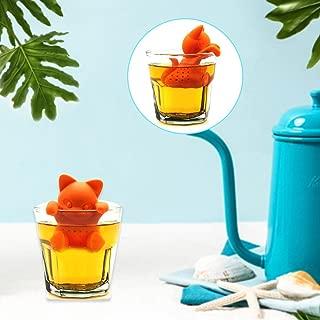 HUVE infusor de te/infusionador/colador te/Filtro te/infusores de te, Hecho de Silicona 100% alimentaria Libre de BPA, infusor en Forma de Gato