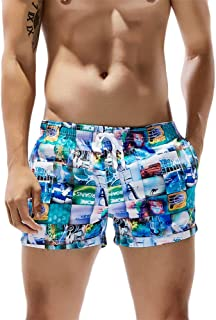 Vickyleb Board Shorts Men Quick Dry Beach Short Surfing Running Pants Elastic Waist Boardshorts with Pocket Drawstring