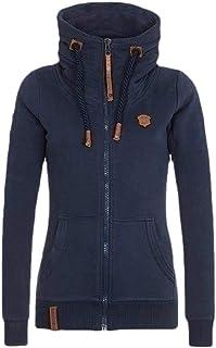 Women's Casual Long Sleeve Zip up Hoodies Tunic Sweatshirt Hoodie Jacket