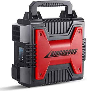 Bingogous Upgrade Portable Generator, 296Wh 300W Power Station with 110V AC Outlet,12V Cigarette Lighter Output, USB Output for Home/Camping/CPAP/Emergency Battery Backup/Charged Solar Panel/Wall Out