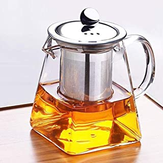 Teapot, Maserfaliw 350/550/750/950ml Glass Stainless Steel Heat Resistant Teapot Strainer Infuser - 550ml, Practical Holiday Gifts And Essentials For Life.