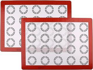 LotFancy Tapis de Cuission en Silicone 2 Pièces Feuille de Cuisson Patisserie ( 40 x 30 cm ) Anti-Adhérent Réutilisable po...