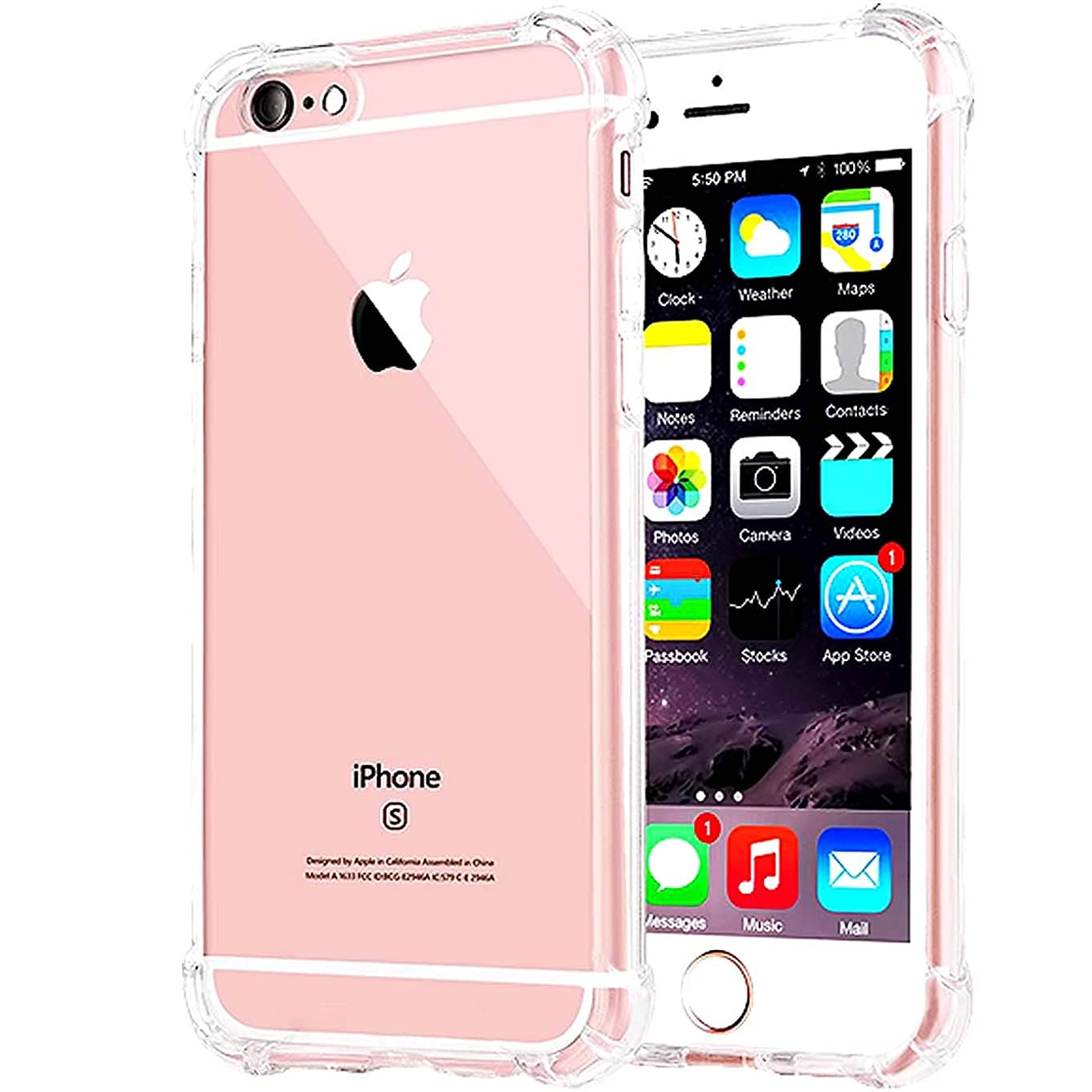 Compatible with iPhone 8 Case, iPhone 7 Case, Clear iPhone 7/8 Heavy Duty Case with Shock Absorption Technology Bumper Protective Case - Clear z060960875990386