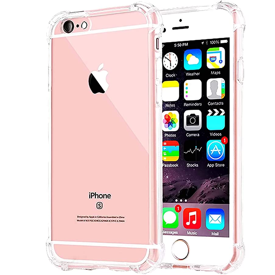 Compatible with iPhone 8 Case, iPhone 7 Case, Clear iPhone 7/8 Heavy Duty Case with Shock Absorption Technology Bumper Protective Case - Clear