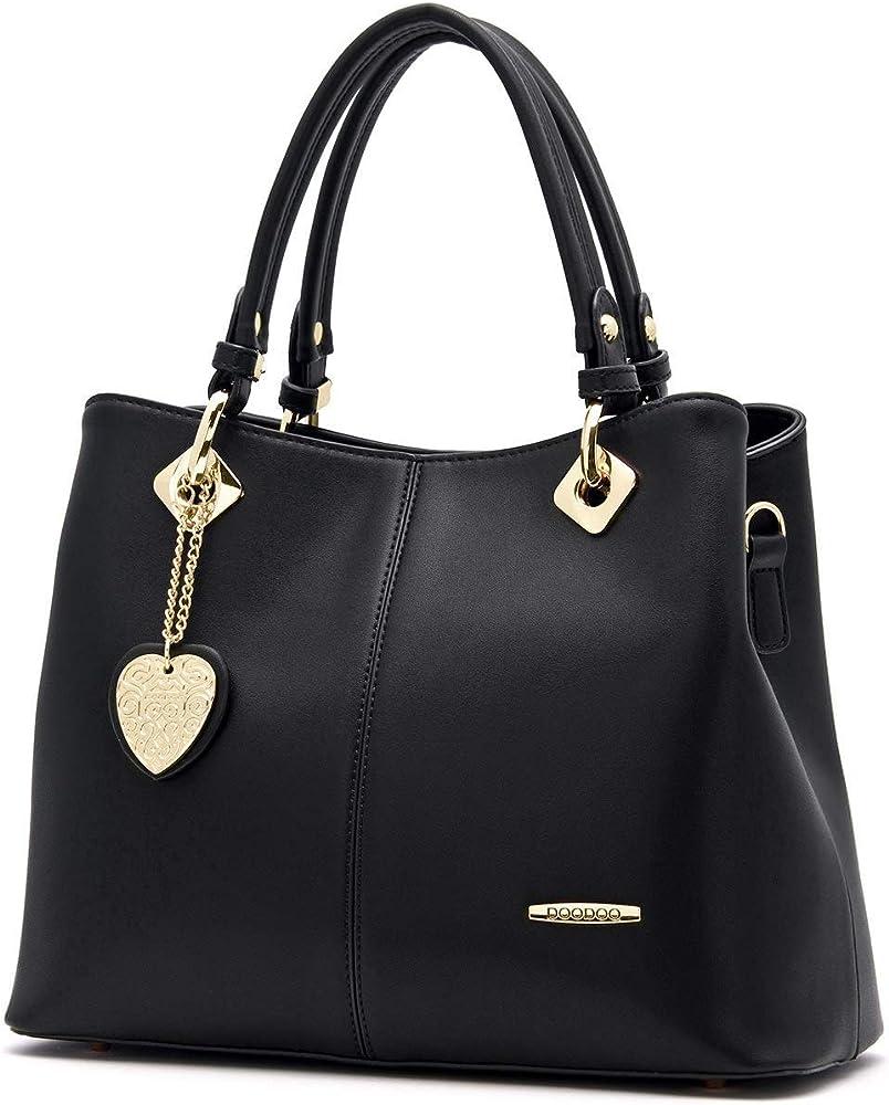 Ainuoey, elegante borsa a mano/spalla per donna, in ecopelle YAMAS-EU73501-03