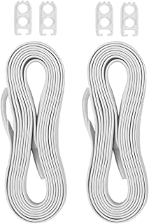 No Tie Shoelaces Flat Athletic Shoe Laces with Elastic Fits All Adult and Kids Shoes