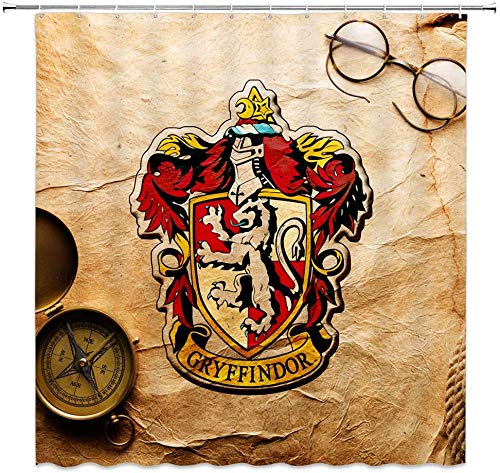 WS Harry Potter - Cortinas de Ducha con diseño de pergamino de...