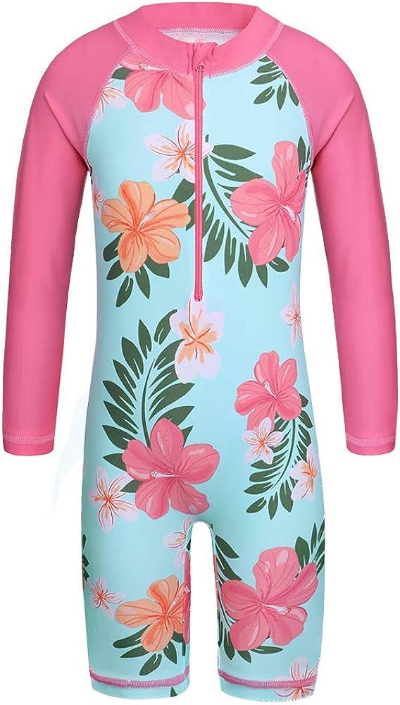 TFJH Max 48% OFF E Girls Swimsuit 3-10 Years UPF Swimwear One UV 50+ Piece w Rare