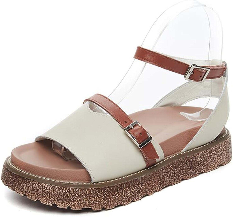 CJC Sandals Women Open Toe Peep Toe Ankle Strap Wedge Heels Prom Wedding Party Court shoes (color   T2, Size   EU36 UK3.5 CN35)