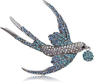 Strass Swallow Brosche Pins Damen Herren Schal Pin Kleidung Zubehör