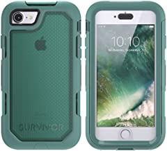 Griffin Survivor Extreme Rugged Drop Protection Case for IPhone 8 & iPhone 7 (ONLY) (Teal/Clear)