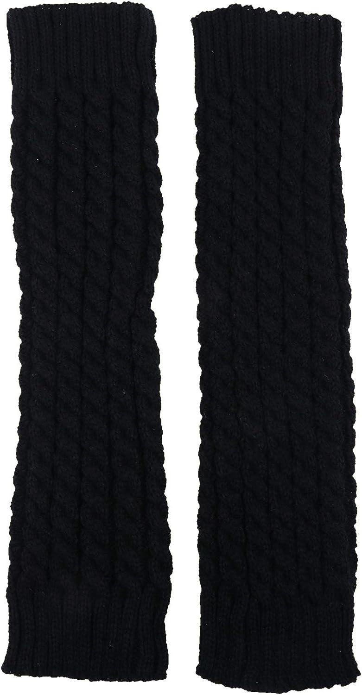 BESPORTBLE 2PCS Knitted Leg Warmers Winter Crochet Knit Leg Warmers Girl Boot Cuffs Socks Short Leg Warmer Black