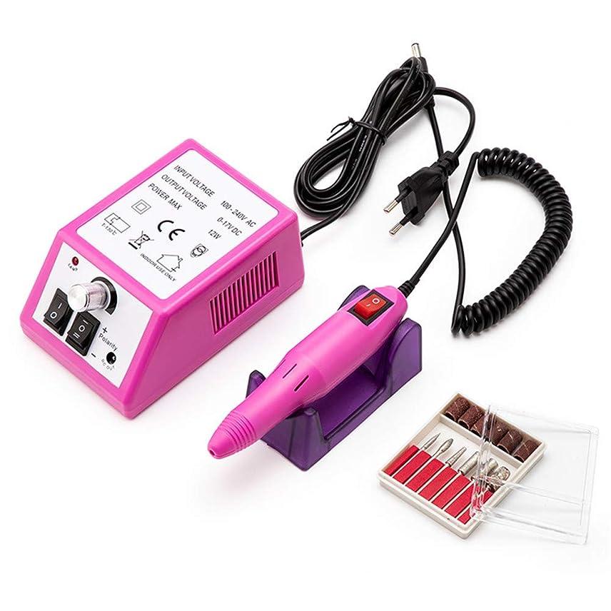 電動ネイルドリル35000 RPMマニキュアセットファイルグレーネイルペンマシンセットダイヤモンドペディキュアネイルファイルドリル100-240Vマニキュア用器具器具,ピンク