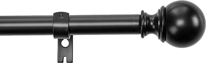 Amazon Basics - Cortinero con orillas decorativas redondas, 183 - 366 cm, color negro