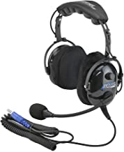 Rugged Radios H22-ULT Carbon Fiber Over The Head Ultimate Headset with Gel Ear Seals, Cloth Ear Covers and Dynamic Noise Cancelling Microphone